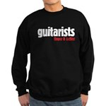 Guitarists finger it better Sweatshirt (dark)