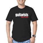 Guitarists finger it better Men's Fitted T-Shirt (