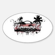 Namaste - Welcome to the Island Sticker (Oval)