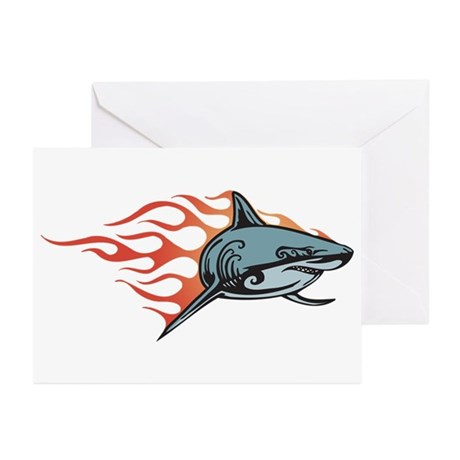 Shark Fire Greeting Cards (Pk of 10)