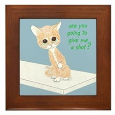 Are You Going To Give Me A Shot? Framed Tile