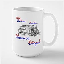 America Stops  Mug