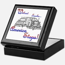 America Stops Keepsake Box