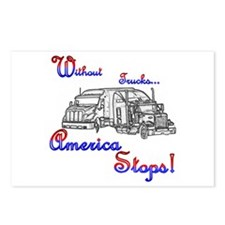 America Stops  Postcards (Package of 8)