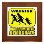 Undocumented Democrats Framed Tile