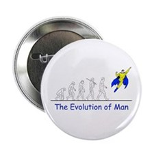 "The Evolution of Man 2.25"" Button"