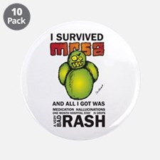 "Survived MRSA 3.5"" Button (10 pack)"