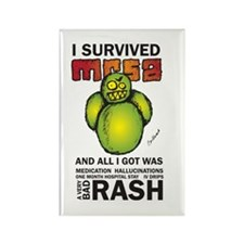 Survived MRSA Rectangle Magnet (10 pack)