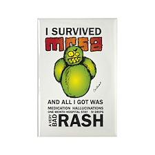 Survived MRSA Rectangle Magnet
