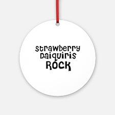 Strawberry Daiquiris Rock Ornament (Round)