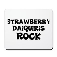Strawberry Daiquiris Rock Mousepad