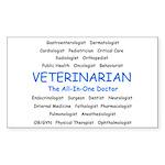 Veterinarian TheAllInOneDoctor Sticker (Rectangle)