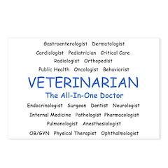 Veterinarian TheAllInOneDoctor Postcards (Package