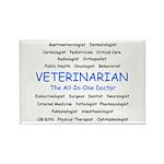Veterinarian TheAllInOneDoctor Rectangle Magnet (1