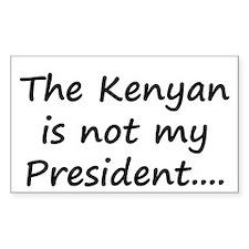 Kenyan Prez Decal