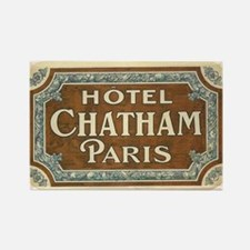 Hotel Chatham Paris Vintage Art Rectangle Magnet