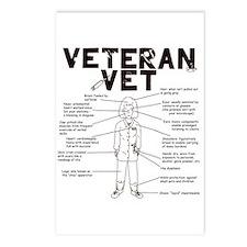 Veteran Vet Female Postcards (Package of 8)