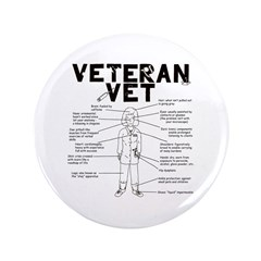 "Veteran Vet Female 3.5"" Button (100 pack)"