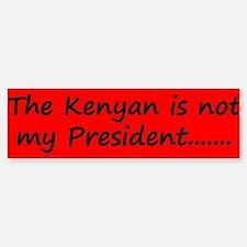 Kenyan Prez Bumper Bumper Sticker