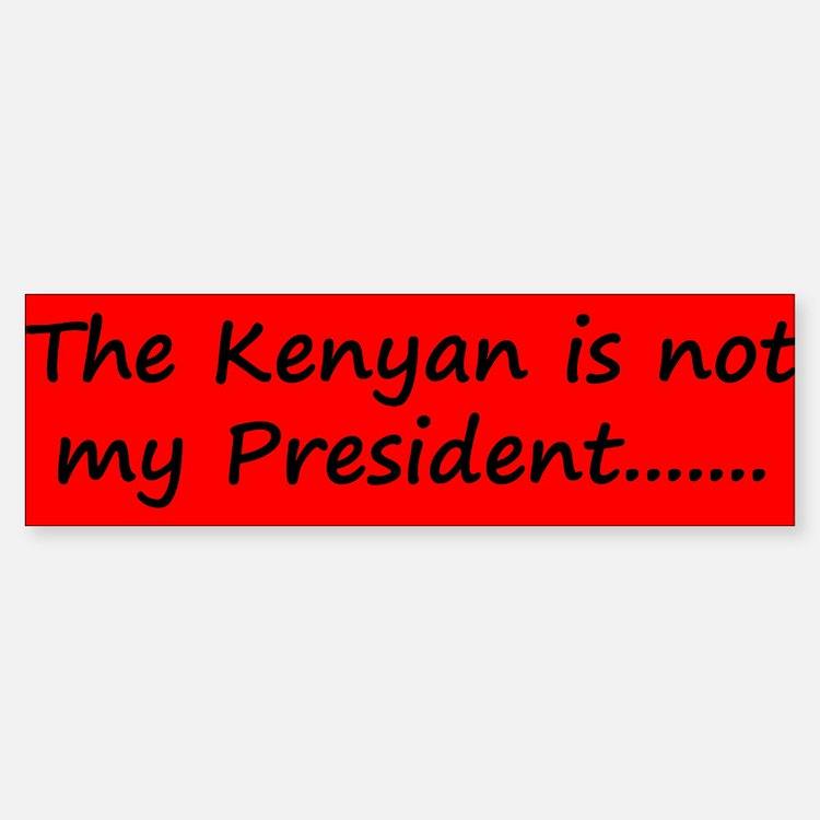 Kenyan Prez Sticker (Bumper)