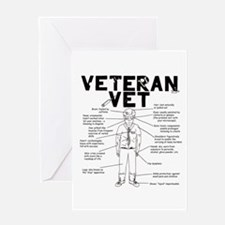 Veteran Vet Male Greeting Card
