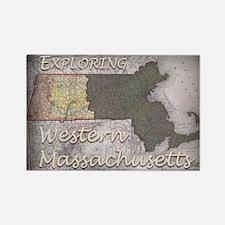 Exploring Western Mass. Rectangle Magnet