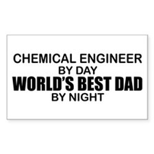 World's Best Dad - Chem Eng Decal