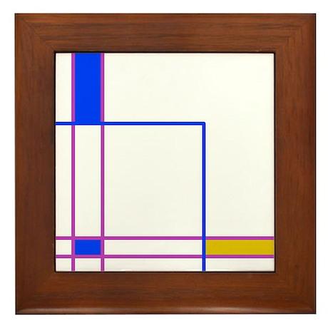 Modern Plaid Framed Tile