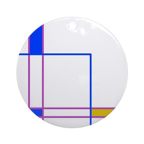 Modern Plaid Ornament (Round)