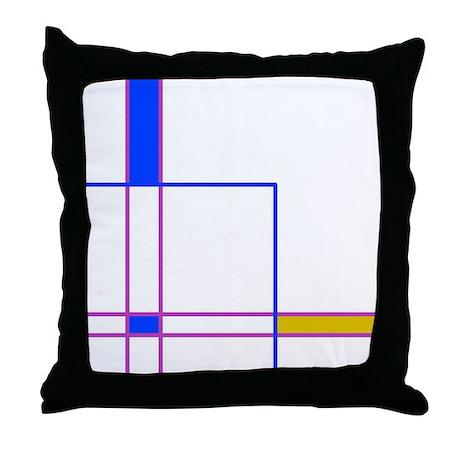 Modern Plaid Throw Pillow