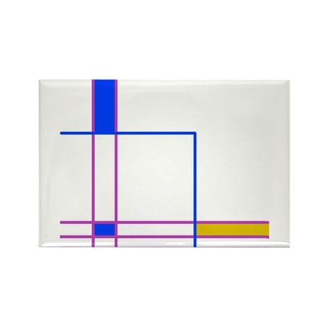 Modern Plaid Rectangle Magnet (10 pack)