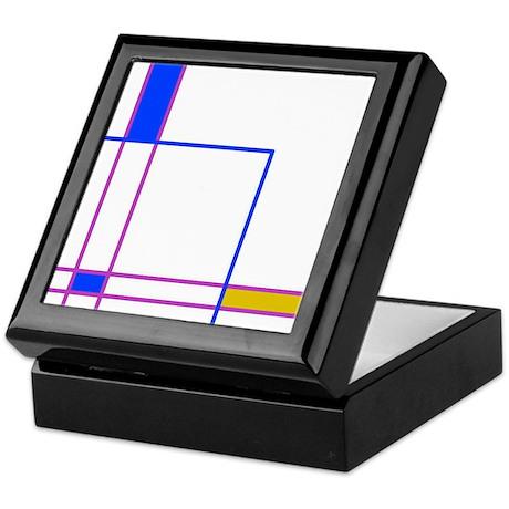 Modern Plaid Keepsake Box