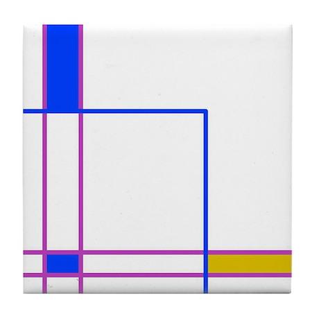 Modern Plaid Tile Coaster