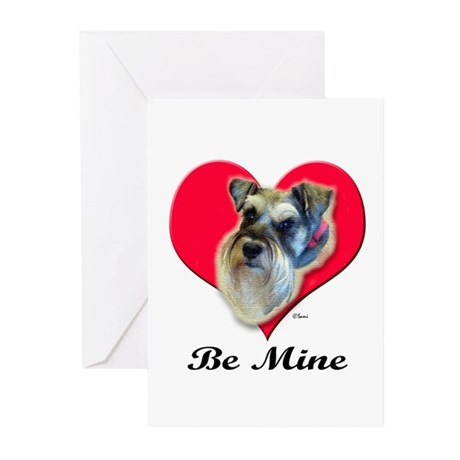 Schnauzer Valentine Greeting Cards (Pk of 10)