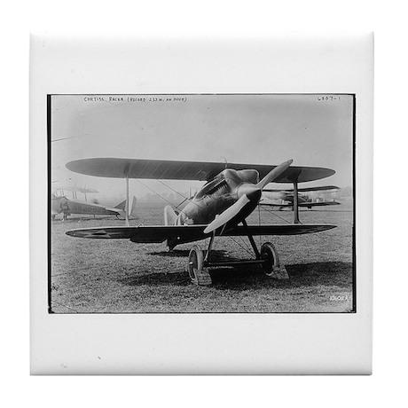 Curtis Racer Biplane Vintage Photo Tile Coaster