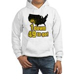 1 down 49 to go Hooded Sweatshirt