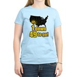 1 down 49 to go Women's Light T-Shirt