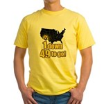 1 down 49 to go Yellow T-Shirt