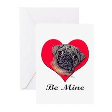Pug Valentine Greeting Cards (Pk of 10)