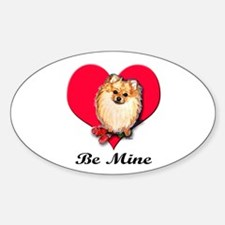 Pom Valentine Oval Decal