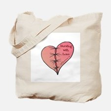 Bursting With Love Heart Tote Bag