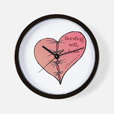 Bursting With Love Heart Wall Clock