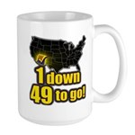 1 down 49 to go Large Mug