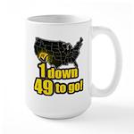 1 down 49 to go Large Mug