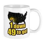 1 down 49 to go Mug