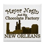 Mayor Nagin Chocolate Factory Tile Coaster