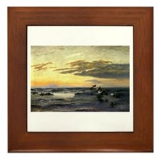 Bruno Liljefors Eiders at Sunrise Framed Tile