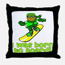 Born to Board Ethan Throw Pillow