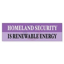Homeland Security Bumper Car Sticker