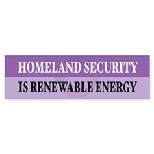 Homeland Security Bumper Stickers